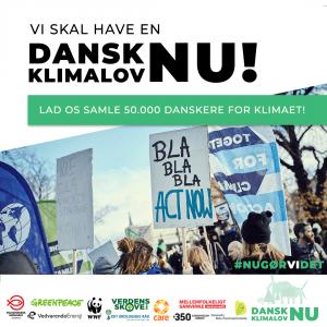 Næsten 70.000 mennesker har skrevet under på, at Danmark bør have en forpligtende klimalov.